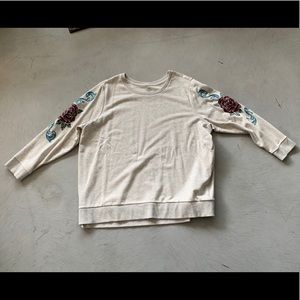 Floral Embroidered St. John's Bay Sweatshirt 3X
